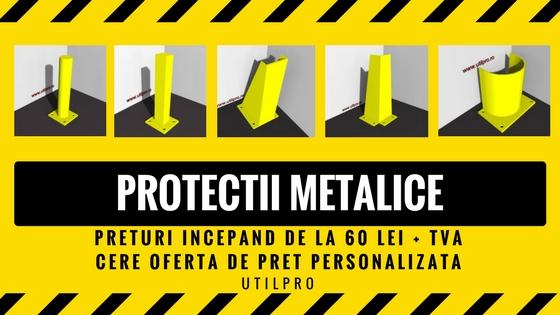 stalp delimitare, stalp metalic, protectie stalp, protectii metalice, protectie de raft, protectie de colt