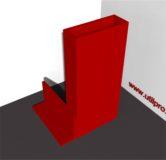 Protectie metalica pentru colt cu perete dublu