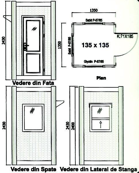 schita cabina de paza