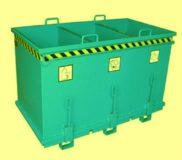 Container cu podea rabatabila cu 3 compartimente