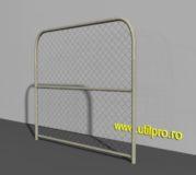 Gard metalic din plasa pentru santiere