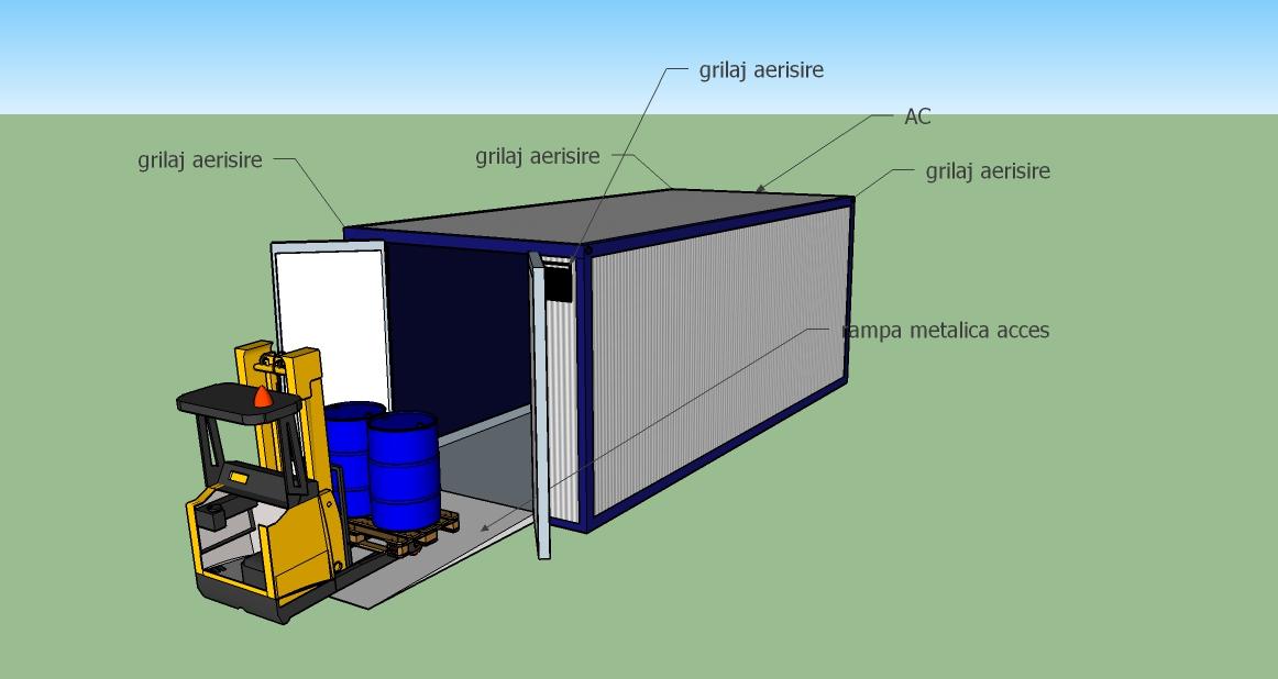 Container pentru butoaie deseuri